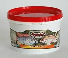 Apetit Diskus Bits 570ml/200g, pomalu klesající speciélní krmivo pro diskuse a ostatní dravé ryby včetně chichlid