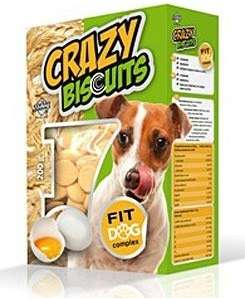 CRAZY Biscuits Piškoty pro psy 200g Dibaq