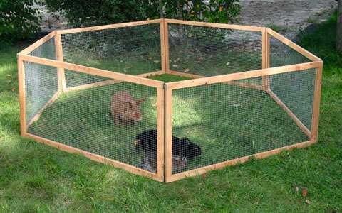 Dřevěná ohrádka pro králika a morče VARIO