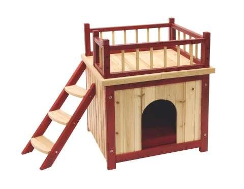 Dřevěný domek pro kočky vnitřní