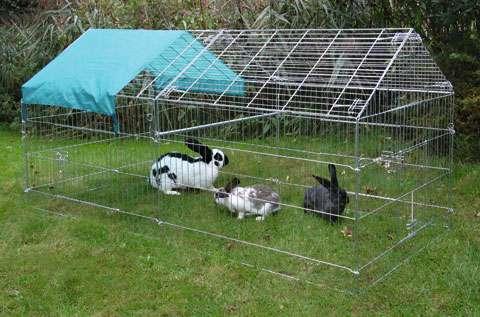 Kovová ohrádka pro králíky, morčata a drůbež vysoká Kerbl