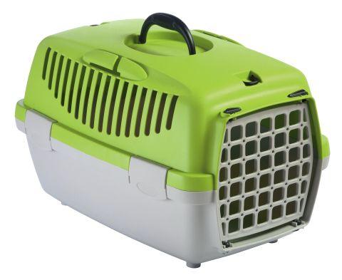 Přepravka pro kočky Gulliver 1 plast zelený