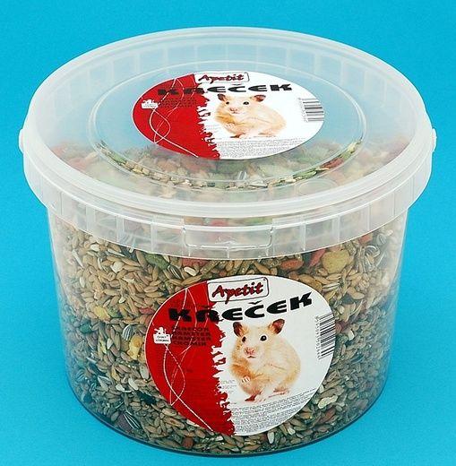 Apetit Drobný hlodavec 1,7kg,vědro 3L, základní krmivo pro drobné hlodavce