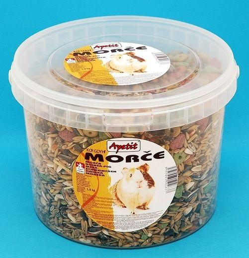 Apetit Morče 1,9kg, vědro 3L, základní krmivo pro hlodavce