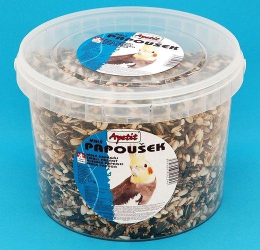 Apetit Papoušek 1,7kg, vědro 3L,základní krmivo pro malé a střední papoušky