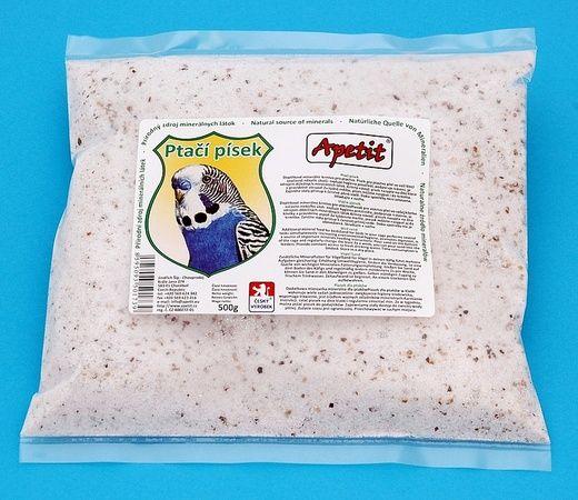 Apetit - Ptačí písek 500g, doplňkové minerální krmivo pro ptactvo