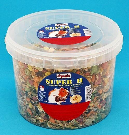 Apetit Super H 1,2kg, vědro 3L, křupavé krmivo pro hlodavce
