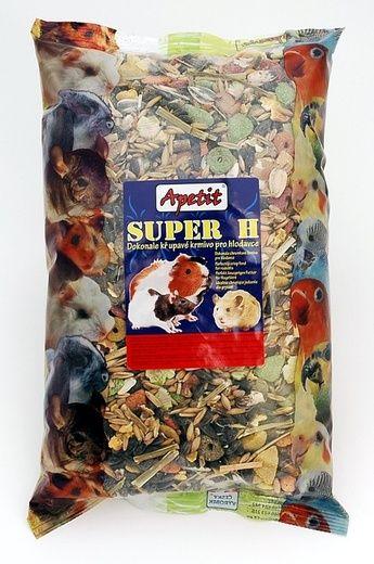 Apetit Super H 800g, křupavé krmivo pro hlodavce