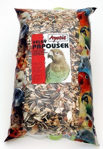 Apetit Velký papoušek 1kg, základní krmivo pro velké poušky