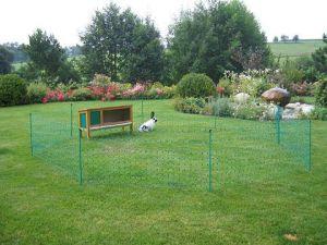 Síťová ohrada králík, slepice 50m zelená nizká, jednohorotá