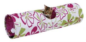 Tunel pro kočky květinový
