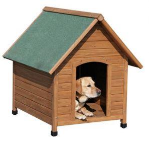 Psí dřevěná bouda zateplená