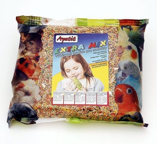 Apetit Andulka extra mix 400g, výběrové krmivo pro andulky