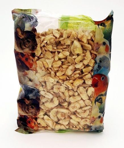 Apetit - Banánové chipsy 400g, Sušené banánové plátky, pochoutka pro hlodavcevek do krmiva.