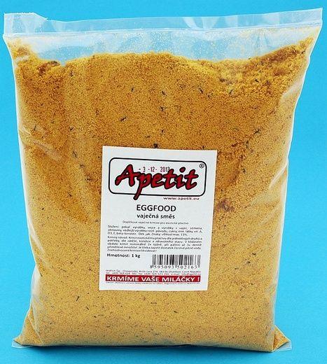 Apetit - Eggfood - vaječná směs žlutá 1kg, doplňkové krmivo pro ptactvo
