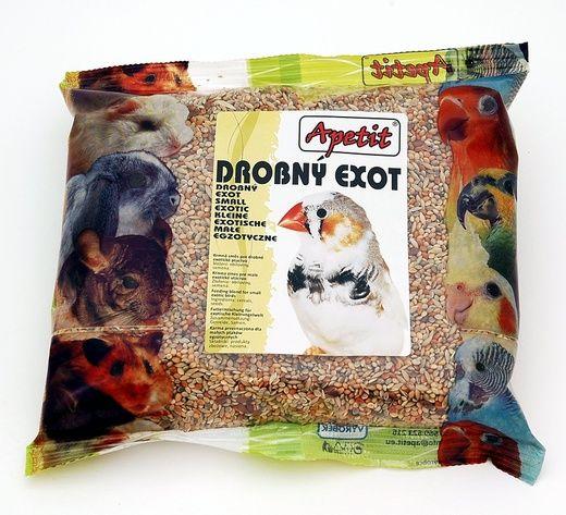 Apetit Exot 400g, základní krmivo pro drobné exotické ptactvo