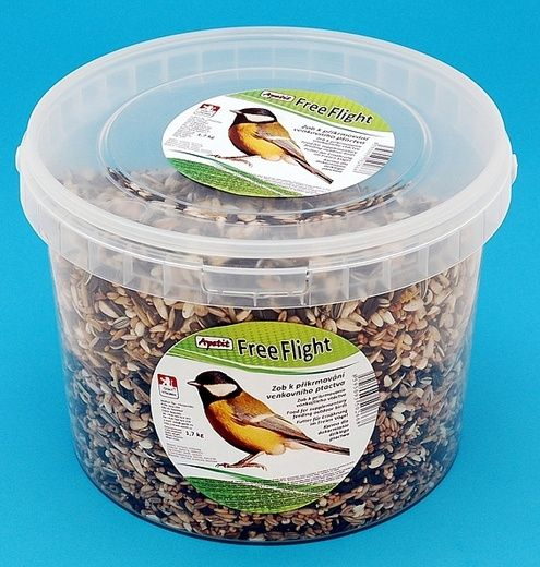 Apetit - Free Flight 1kg, vědro 3L, k přikrmování volně žijícího ptactva
