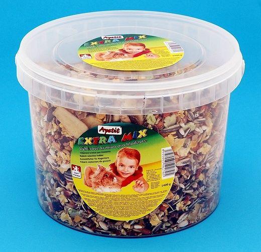 Apetit Hlodavec - Extra Mix 1,4kg,vědro 3L, výběrové krmivo pro hlodavce