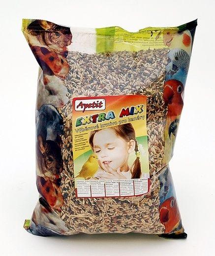 Apetit Kanár extra mix 1kg, výběrové krmivo pro kanáry