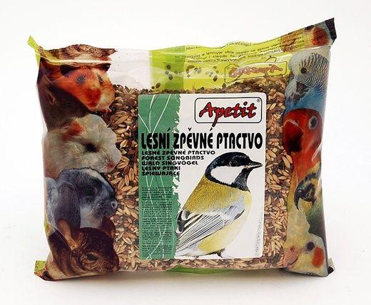 Apetit - Lesní zpěvné ptactvo 400g, základní krmná směs pro venkovní ptáky