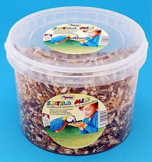 Apetit Velký Papoušek extra mix 1,4kg,vědro 3L výběrové krmivo pro velké papoušky