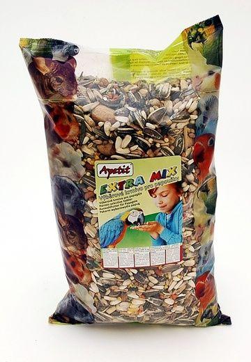 Apetit Velký Papoušek extra mix 0,8kg, výběrové krmivo pro velké papoušky