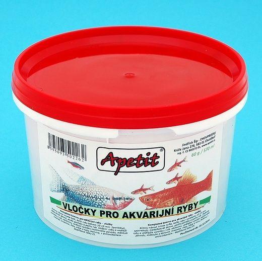 Apetit - vločky pro akvarijní ryby 60g/570ml, dóza