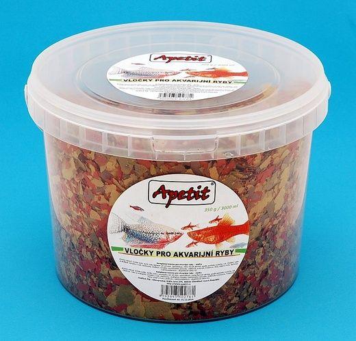 Apetit - vločky pro akvarijní ryby, Tropical Color Flakes, vědro 3L (350g)