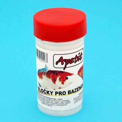 Apetit - vločky pro bazénové ryby 10g/100ml, krmivo pro bazénové ryby