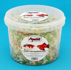 Apetit - vločky pro bazénové ryby, vědro 3L (350g)