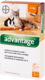 Advantage spot-on kočka, králík do 4kg 0,4ml