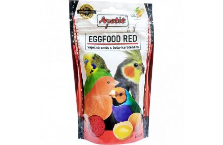 Apetit - Eggfood Red 150g - vaječná směs s beta-karotenem - červená , doplňkové krmivo pro ptactvo