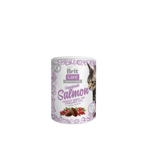 Brit Care Cat Snack Superfruits Salmon 100g Vafo Praha