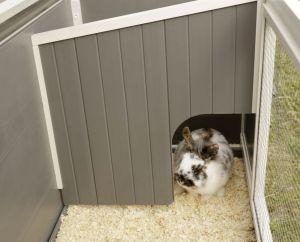 ECO - králíkárna Samy plast / dřevo, pro králíky a velké hlodavce, 116 x 57 x 82 cm Kerbl