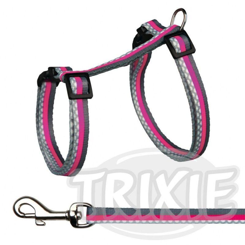 Postroj pro králíky s vodítkem - růžová Trixie