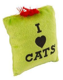 Polštářek s Catnipem - I love Cats