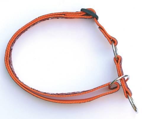 Atlanta obojek polostahovací 40-70cm/25mm,oranžový