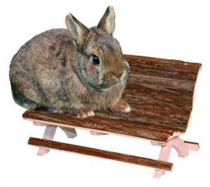 Dřevěná lavička Nature, králík Kerbl