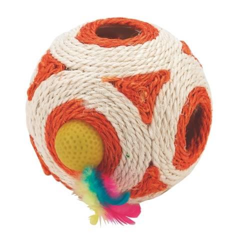 Sisalový míček s chrastítkem Kerbl