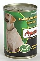 Apetit - konzerva pro psy - zvěřina 410g, zvěřinové kousky v rosolu