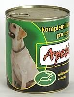 Apetit - konzerva pro psy - zvěřina 1250g, zvěřinové kousky v rosolu