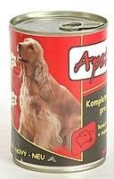 Apetit - konzerva pro psy - hovězí 410g, hovězí kousky v rosolu