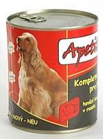 Apetit - konzerva pro psy - hovězí 855g, hovězí kousky v rosolu