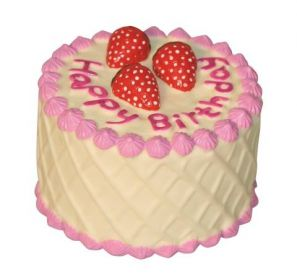 Hračka dort narozeninový 10cm