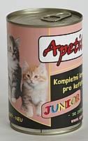 Apetit - konzerva pro koťata - JUNIOR 410g, konzerva pro koťata