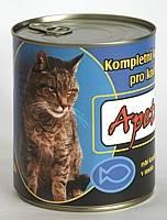 Apetit - konzerva pro kočky - rybí 855g, rybí kousky v rosolu