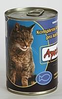 Apetit - konzerva pro kočky - rybí 410g, rybí kousky v rosolu