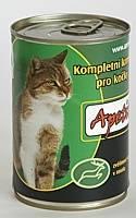Apetit - konzerva pro kočky - zvěřina 410g, zvěřinové kousky v rosolu