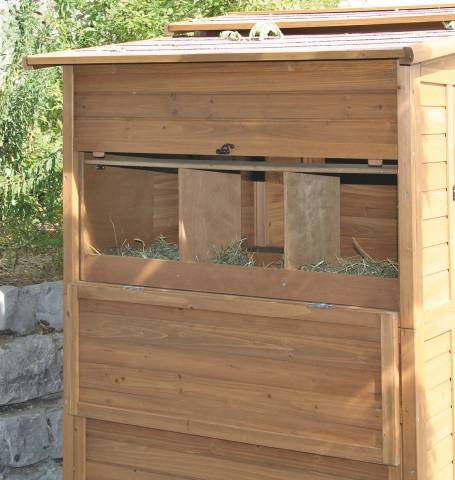 Kurník - Velký dřevěný domek pro slepice a domácí ptactvo