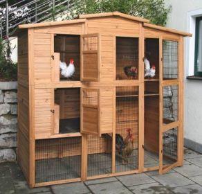 Velký dřevěný domek pro slepice a domácí ptactvo - Kurník